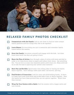 6 Family Photo Session Tips (For Amazing Family Photos) – Pretty Presets for Lightroom Family Picture Poses, Fall Family Photos, Family Photo Sessions, Family Posing, Family Pictures, Family Portraits, Photography Basics, Photography Lessons, Photography Business