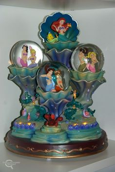 The Little Mermaid Ariel and sisters in snow globes