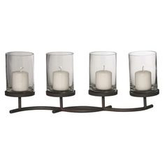 Black Wavy 4 Way Candleholder via Stansfield Interiors. Click on the image to see more!