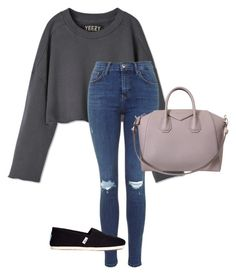 """""""Everyday street."""" by jasminekellly on Polyvore featuring TOMS, Givenchy, women's clothing, women's fashion, women, female, woman, misses and juniors"""