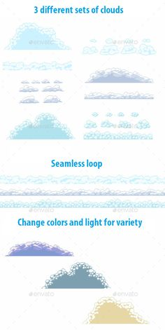 Pixel Cloud Set — Photoshop PSD #cotton #pixel • Download here → https://graphicriver.net/item/pixel-cloud-set/9781158?ref=pxcr