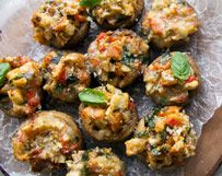 Bruschetta Stuffed Mushrooms | Wisconsin Milk Marketing Board