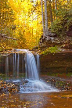 ~~Lost Creek Falls in Fall ~ autumn, Anaconda, Montana by weirdweirdweird~~