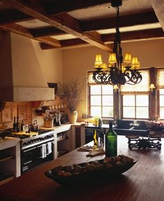 warm stunning kitchen rustic style