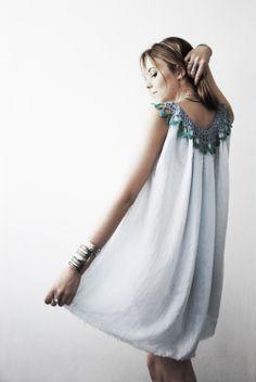 #Grecian Blue Dress-Tunic  women dresses #2dayslook #new #dresses #nice  www.2dayslook.com