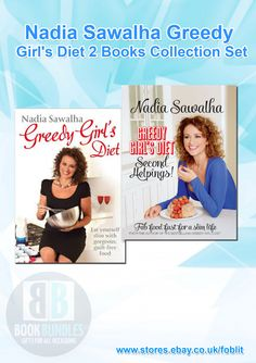 Nadia Sawalha Greedy Girl's Diet 2 Books Collection Set at Best Price. Buy now at http://ebay.eu/1xim39f. #Books‬ #Diet‬ #DietBooks‬ #NadiaSawalha