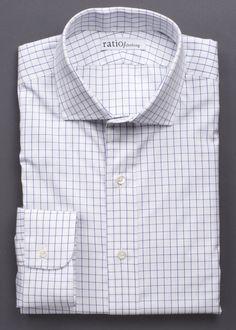 Blue Windowpane Pinpoint - Ratio Clothing