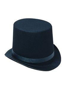 f76d6fd9693 Amazon.com  Deluxe Black Magician Butler Formal Costume Top Hat  Costume  Headwear And