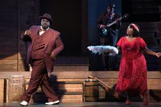 "Production still from True Colors Theatre's 2014-2015 season production of Kevin Ramsey's ""Chasin' Dem Blues: The Untold Story of Paramount Records"".  Pictured: Brad Raymond and Maiesha McQueen . Photo credit: Josh Lamkin."
