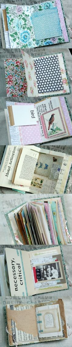 my arts desire: pockets and extra inserts make this journal more interactive and interesting.