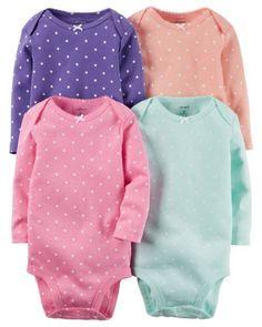 c27e3b2d341a 4-Pack Cotton Polka Dot Bodysuits-Specil Offer. Carters Baby GirlToddler ...