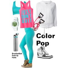 """Color at the Gym"" by casadelola on Polyvore"