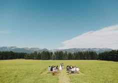 i love how remote/private and simple this is. Montana prairie outdoor wedding ceremony