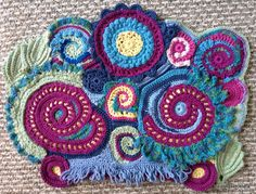 Free Form Crochet Scrumble with Irish Crochet elements Freeform Crochet, Irish Crochet, Free Crochet, Knit Crochet, Knitting Projects, Crochet Projects, Paisley, Origami, Types Of Stitches