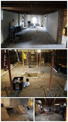 10 best the evolution of a basement dig out images evolution rh pinterest com