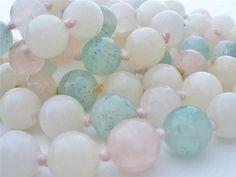 "Vintage Jade Hand Knotted Necklace 30"" Long Bead Jadeite Green Pink White Estate | eBay"