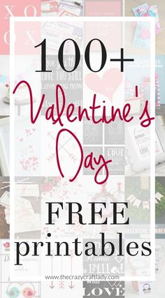 The best FREE Valentine's Day Printables - Valentine Printables and Cards #ValentinesDay #Valentines #ValentinesPrintables