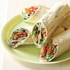 Mediterranean Garden Wraps. This would make a great summer lunch :)