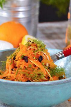 Καροτοσαλάτα με φιστίκι Αιγίνης και πορτοκάλι