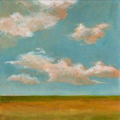 Grassland Original Landscape Painting on canvas by PetiteMalou