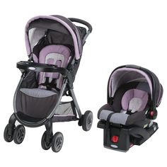 Easily travel with baby in and out of the car with the Graco FastAction Fold Click Connect Travel System. Features the versatile FastAction Fold Click Connect Stroller and the popular SnugRide Click Connect 30 Infant Car Seat with stay-in-car base. Car Seat And Stroller, Pram Stroller, Baby Car Seats, Umbrella Stroller, Jogging Stroller, Car Seat Weight, Travel Systems For Baby, Best Baby Strollers, Traveling With Baby