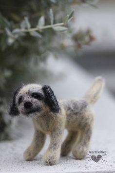 Needle felted Border Terrier dog HeartFelties