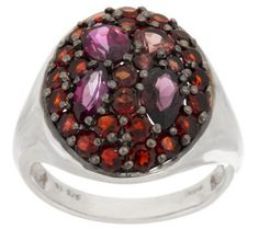 QVC As Is Garnet Mozambique Multi-Cut Sterling Silver Ring, cttw Garnet Jewelry, Platinum Jewelry, Garnet Necklace, Turquoise Jewelry, Glass Jewelry, Pearl Jewelry, Gold Jewelry, Jewlery, Different Shades Of Red