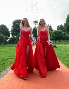 Rochii Domnisoare Onoare Lungi Rosii AngeAtelier Corset, Formal Dresses, Womens Fashion, Red, Wedding, Mariana, Mariage, Bustiers, Formal Gowns