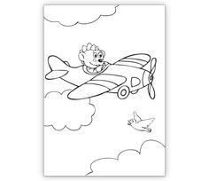 Mal Bastel Klappkarte mit Dinolino als Flieger - http://www.1agrusskarten.de/shop/mal-bastel-klappkarte-mit-dinolino-als-flieger/    00004_0_165, Ausmalen, Flugobjekt, Grußkarte, interaktiv, Jungen, Kinder, Klappkarte00004_0_165, Ausmalen, Flugobjekt, Grußkarte, interaktiv, Jungen, Kinder, Klappkarte