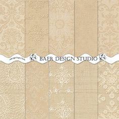 Digital Scrapbooking Paper Pack Champagne by BaerDesignStudio