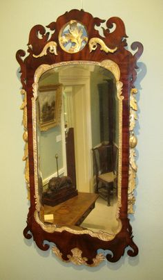 Decorative Arts Mirrors Antique Vtg Gilt Wood Framed Trumeau Mirror Wall Hang Needlepoint Victorian Packing Of Nominated Brand