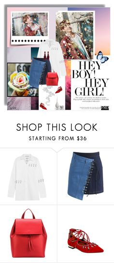 """Hey Girl!"" by lascaux on Polyvore featuring moda, Christopher Kane, Chicwish, Aesther Ekme y Oscar de la Renta"