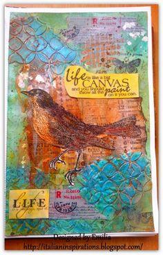 Emilia's Italian Inspirations: botanical art journal page