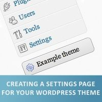 tutorial - add sub page to theme options in WordPress