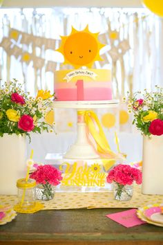 You Are My Sunshine Birthday Party on Kara's Party Ideas | KarasPartyIdeas.com (22)