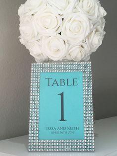 Tiffany Wedding Rhinestone 5x7 Frame with by KimeeKouture on Etsy