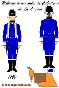 Milicias disciplinadas de Caballería de La Laguna,  1780