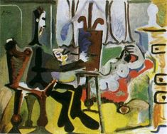 """Pablo Picasso - """"The Artist and His Model I"""", 1963"""