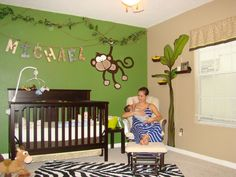 Michaels Jungle Baby Room. Designed By Pamela Townsend For The Blake Family.