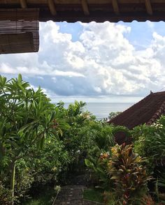 Day 103 - Amed (Bali). Breakfast view. We can even hear the sea from our bed Today was about blogpost writing eating (of course) chilling and enjoying a beautiful sunset over Jemeluk bay.