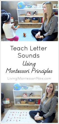Lots of Montessori phonics resources plus video to help parents teach letter sounds to their children at home. Video tells how to pronounce each letter sound, gives a suggested order for teaching letters, and includes a simple phonics game for toddlers! Montessori Preschool, Montessori Education, Maria Montessori, Preschool Learning, Kids Education, In Kindergarten, Fun Learning, Learning Activities, Teaching Kids