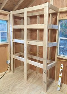 Shed Storage Ideas For Tons Of Added Function How to add diy shelving to your garage, workshop, or shed (so easy and so sturdy!)How to add diy shelving to your garage, workshop, or shed (so easy and so sturdy! Storage Shed Organization, Diy Garage Storage, Built In Storage, Storage Ideas, Creative Storage, Tool Storage, Organizing, Heavy Duty Storage Shelves, Barn Storage