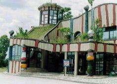 Hundertwasser Service Station - Bad Fischau, Lower Austria
