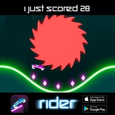 I just scored 28 points in #Rider ! Can you beat my score ? http://onelink.to/rider