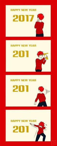 "Happy new year 201""7"""
