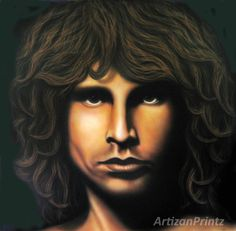 "Jim Morrison from The Doors ""Mr Mojo Risin"" -100 Limited Edition prints by artist Rick Waddell by ArtizanPrintz on Etsy"