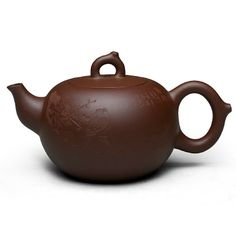 Zi Sha-Purple Clay Tea Pot-280ML-Magpie on Branch-Hand-carved - Tea Pot - Teaware Enjoy / Slow / Green