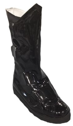 502c5b2a50252 Black Patent Motorcycle Style Boots