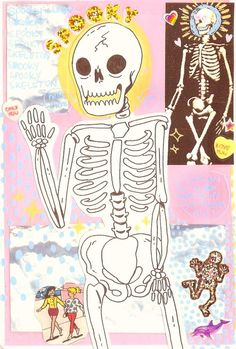 theskinnyartist:  ♫ SPOOKY SCARY SKELETONS  SEND SHIVERS DOWN YOUR SPINE  SHRIEKING SKULLS WILL SHOCK YOUR SOUL  SEAL YOUR DOOM TONIGHT♫