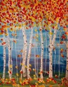 Resultado de imagen de fall art projects for elementary students Kindergarten Art Projects, Classroom Art Projects, School Art Projects, Art Classroom, Art Projects For Adults, Arte Elemental, Birch Tree Art, Fall Art Projects, Halloween Art Projects